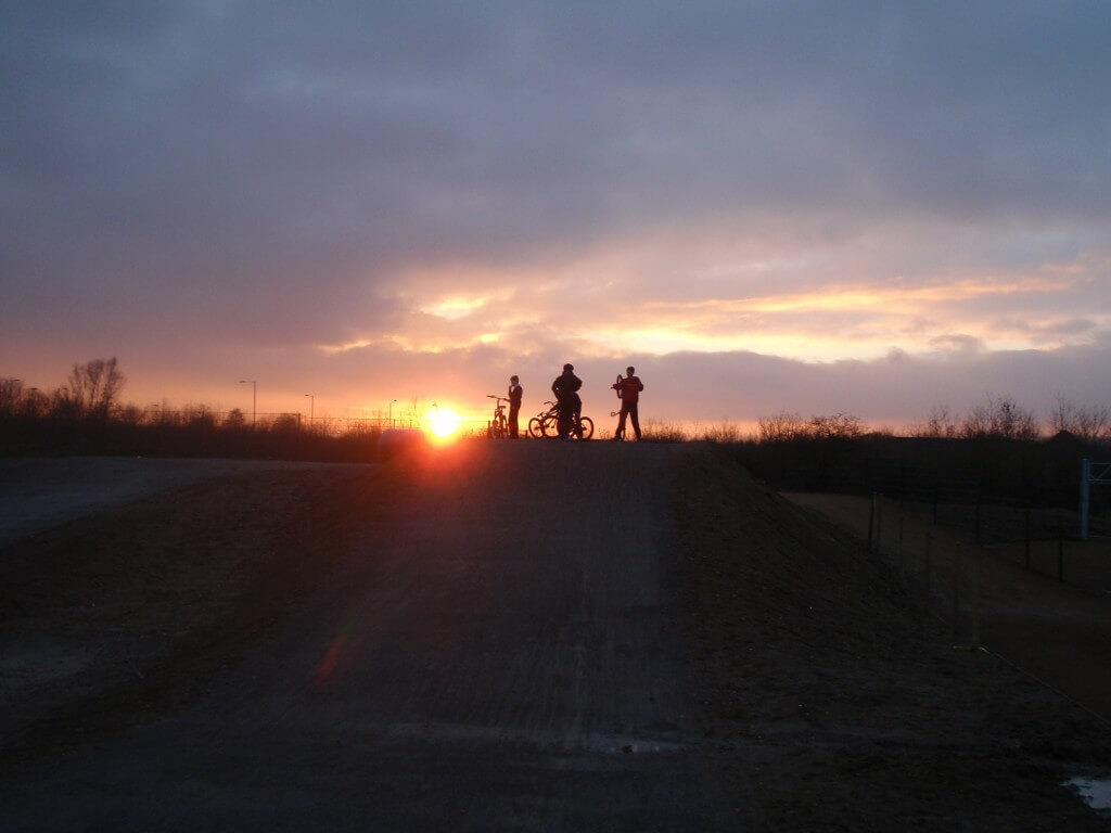 BMX Track at Sunset